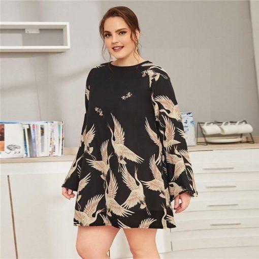 Günstige Hippie Kleid große Größe