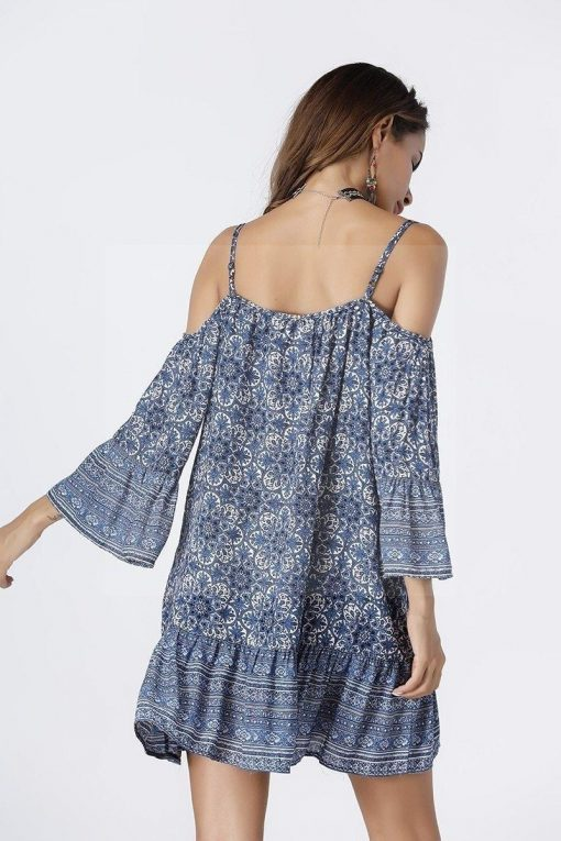 Kurzes Kleid im Hippie Stil